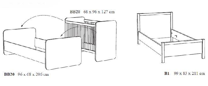 Slaapkamer Eenpersoonsbed : Babybed omvormbaar tot eenpersoonsbed ...