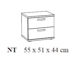 Nachtkastje 55x51x44cm bruin chambord eik kamer tommy ref i 218658 paradisio - Nachtkastje eik ...