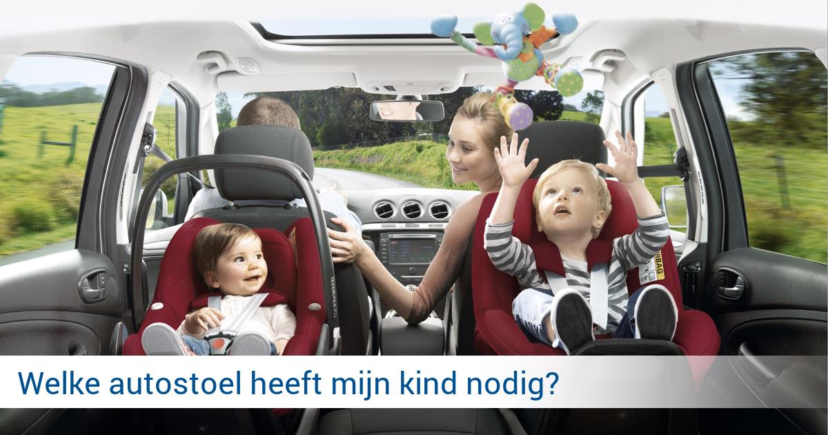 vanaf welke leeftijd kinderstoel auto