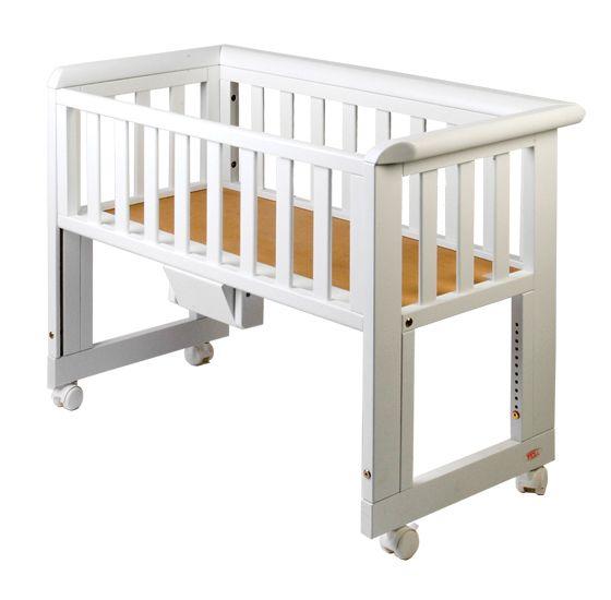 Baby Bed Wieg.Co Sleeping Wieg Bedside Crib Br Wit White Br Matrasmaat 40x90cm