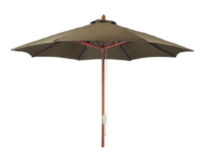 MG STYLE SHADE Parasol, taupe, 350 x 260 cm