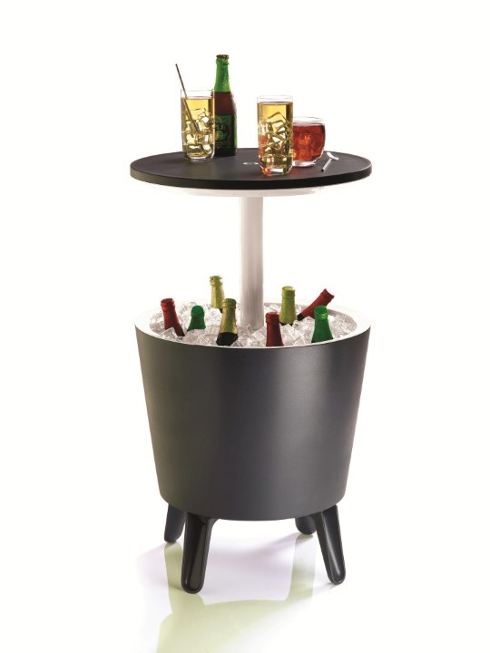 keter Bartafel, Cool Bar, antraciet/wit, 49.5 x 57 cm