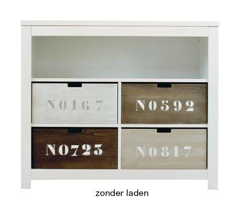 Ladenkastje White Wash.Ladenkast Wandkast Dubbel White Wash 100x53x Kamer Basic Wood