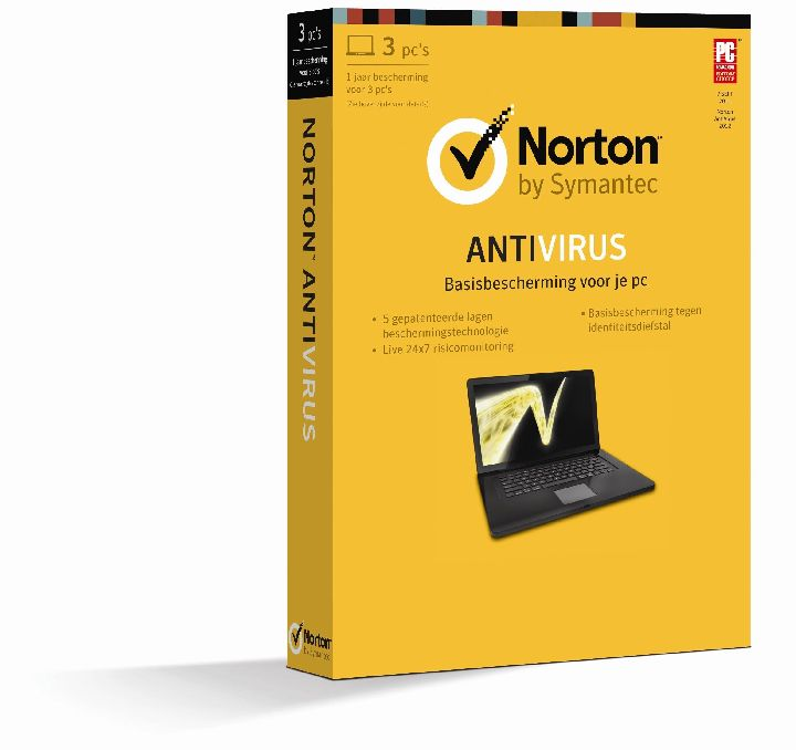 SOFTWARE, Norton Antivirus 2013 1 jaar  3 PC   SYMANTEC