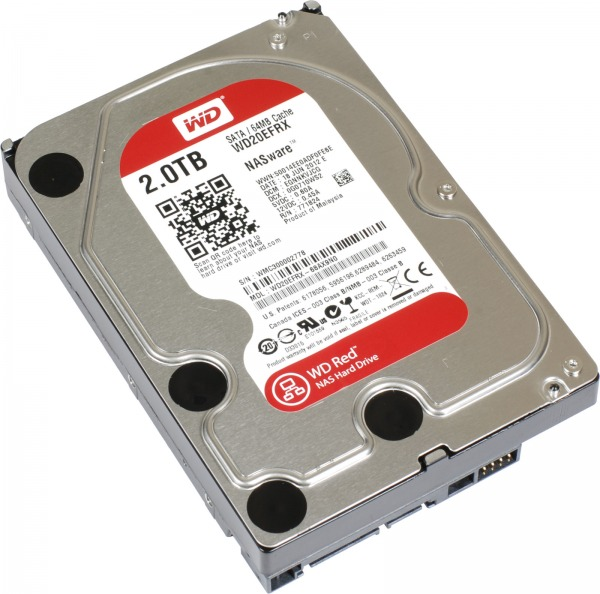 WESTERN DIGITAL Interne hdd, WESTERN DIGITAL Red 2000 GB 3,5 inch