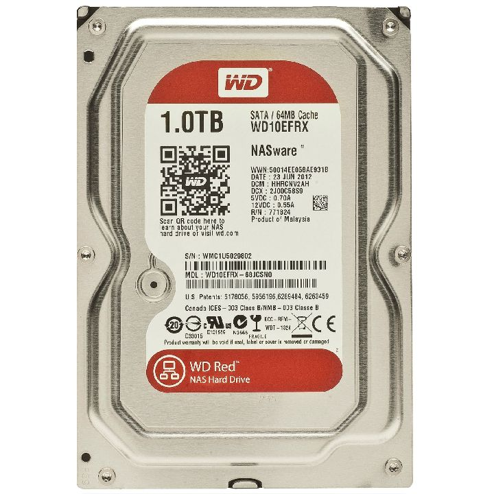 WESTERN DIGITAL Interne hdd, WESTERN DIGITAL Red 1000 GB 3,5 inch
