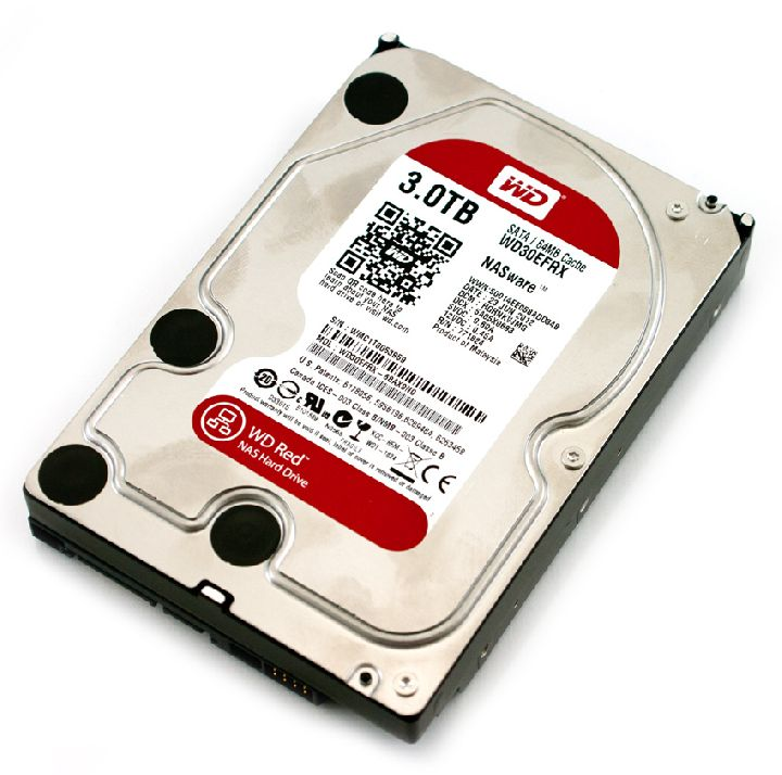 WESTERN DIGITAL Interne hdd, WESTERN DIGITAL Red 3000 GB 3,5 inch