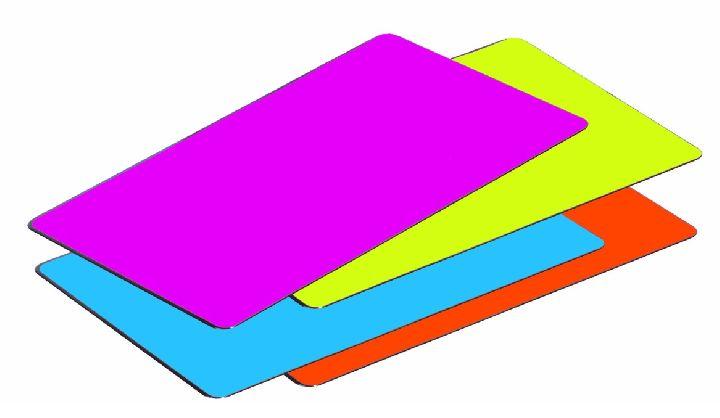 bureau onderlegger paars/groen/blauw/rood collectie: trend colours