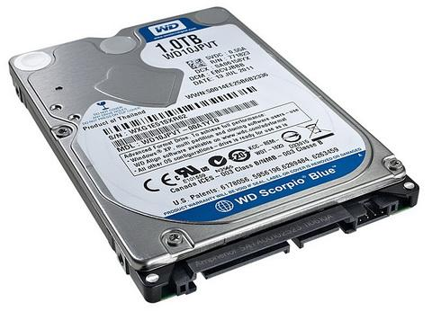 WESTERN DIGITAL Interne hdd, WESTERN DIGITAL Blue 1000 GB 2,5 inch