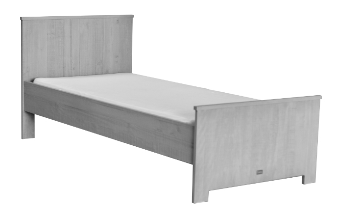 Eenpersoonsbed matrasmaat 90x200cm grijs kamer zanzi ref i 241868 paradisio - Kamer grijs kid ...