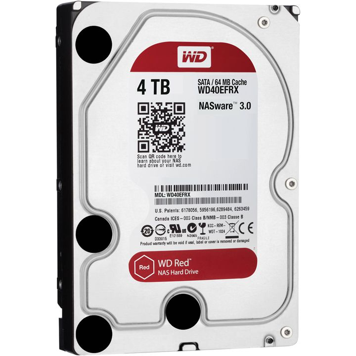 WESTERN DIGITAL Interne hdd, WESTERN DIGITAL Red 4000 GB 3,5 inch
