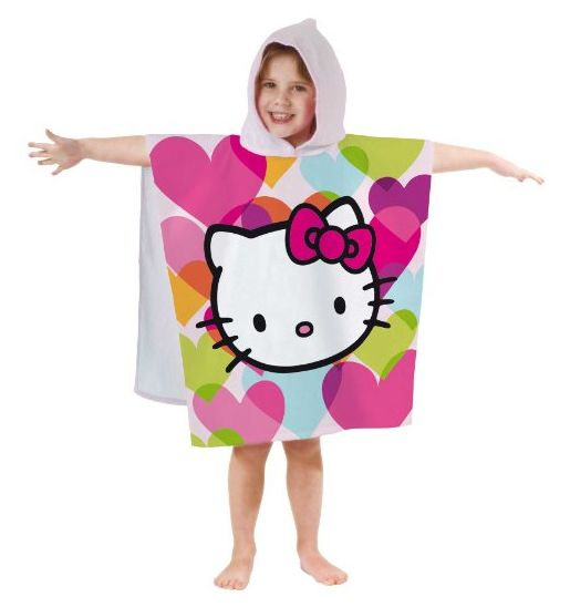 Poncho badcape, Hello Kitty Mimi love Polka roze ...