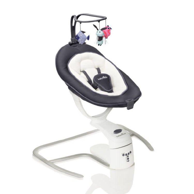 Elektrische Schommel Baby.Schommel Relax Swoon Motion Zwart Wit Zinc Ref 262342 Paradisio