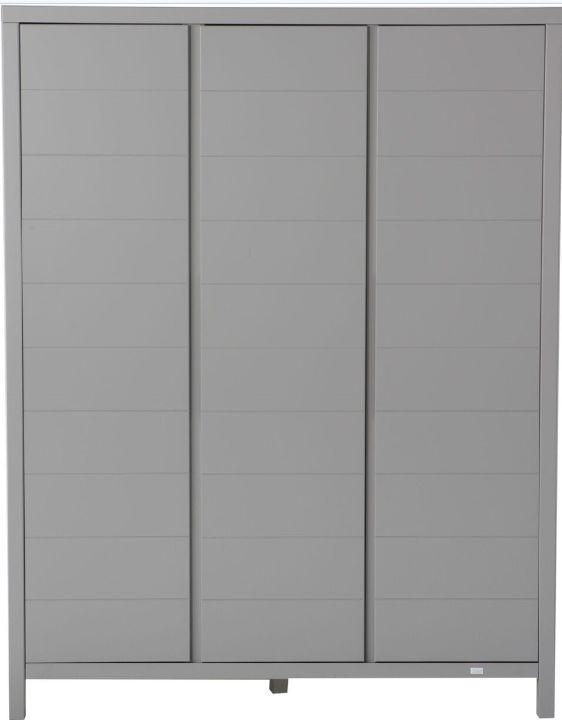 Kast 3 Deurs 147x190x56cm Grijs Griffin Grey Kamer Stripes