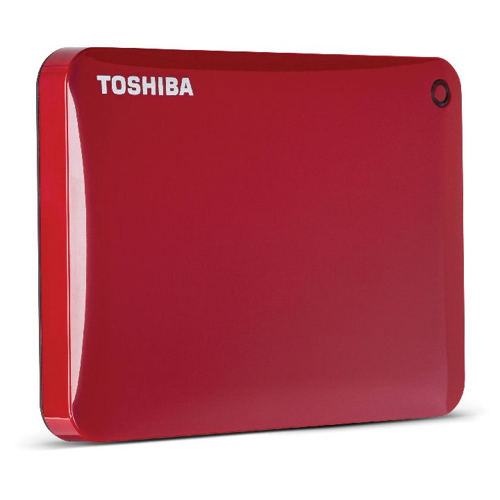 TOSHIBA Externe hdd, TOSHIBA Canvio Connect II 1000 GB, Rood