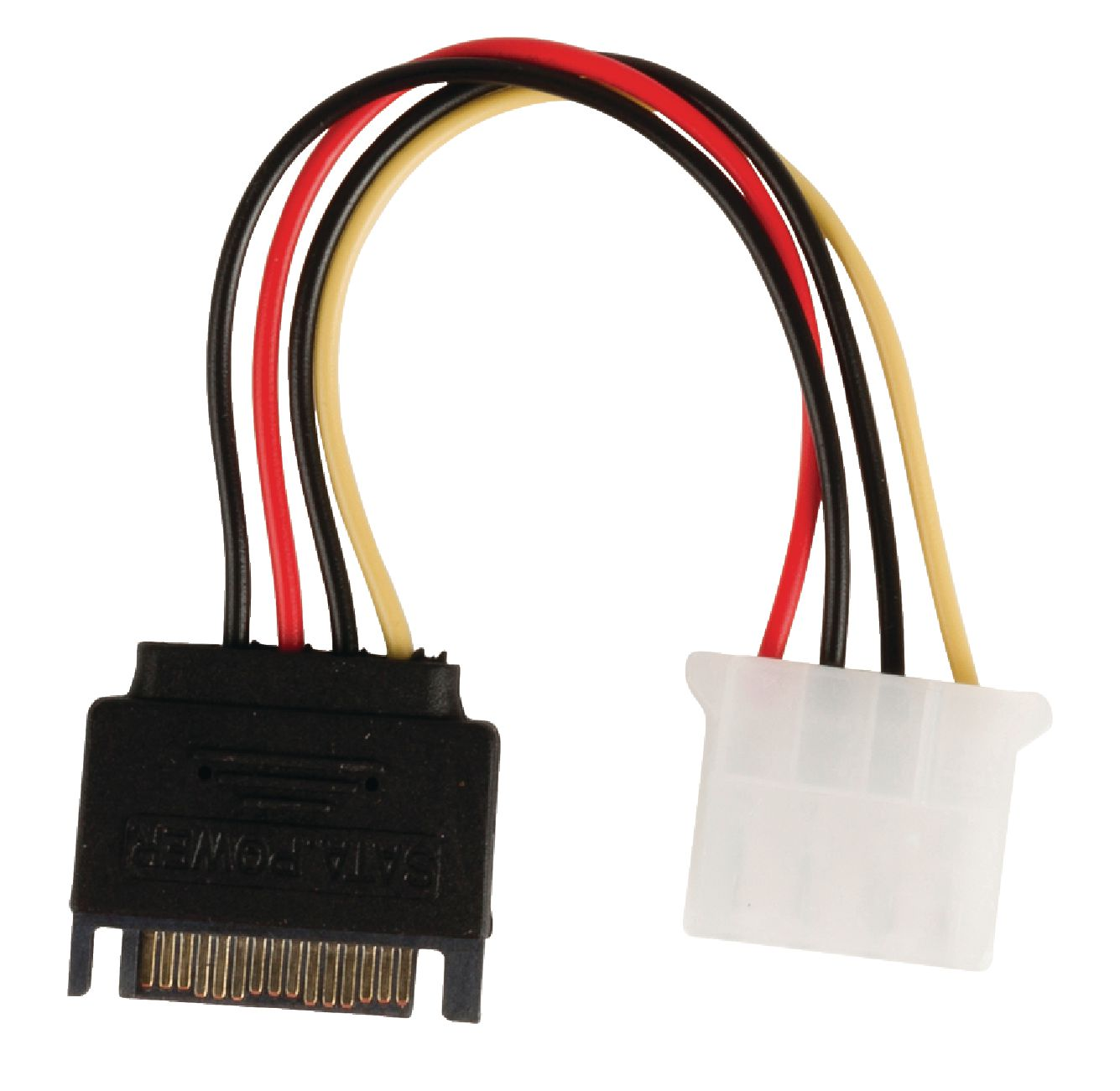 VALUELINE Kabel, VALUELINE interne stroomkabel SATA 15-pins male - Molex female 0.15 m