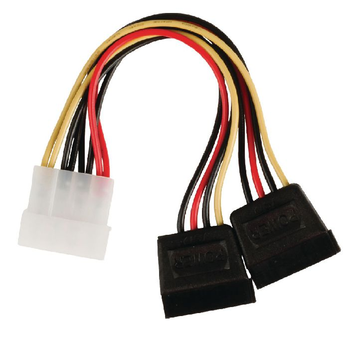 VALUELINE Kabel, NEDIS interne splitterkabel Molex male - 2x SATA 15-pins female 0.15 m