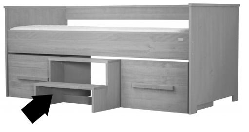 Opstapje grijs geschikt voor bedbank coming kids kamer zanzi ref i 279442 paradisio - Kamer grijs kid ...