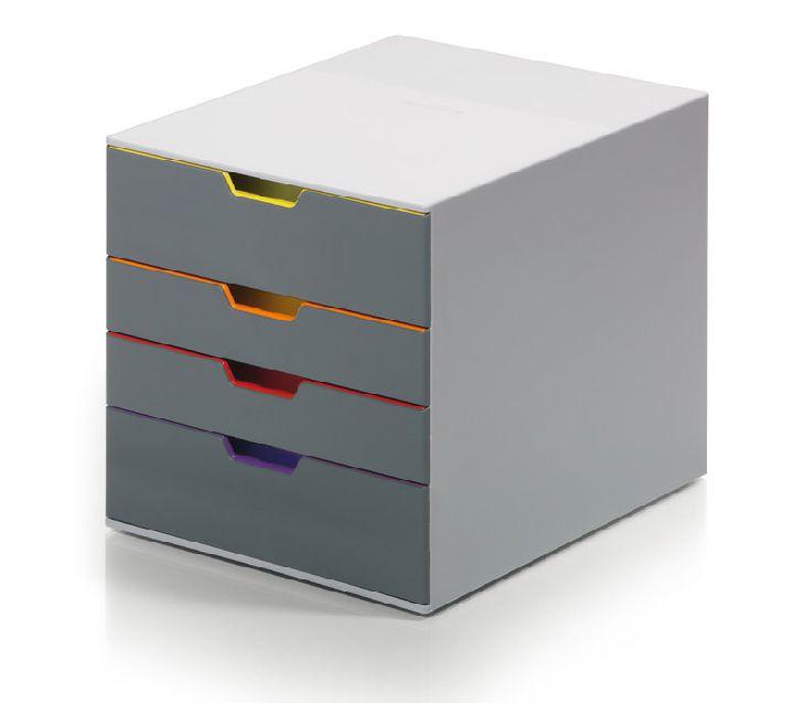 Ladenblok varicolor 4 laden elke lade een eigen kleur for Ladenblok durable varicolor