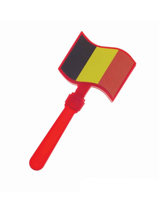 FUNNY FASHION Gadget, klapper met vlag<br>Collectie: Belgium
