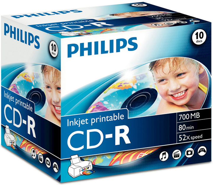 PHILIPS Cd, Jewelcase CD-R Recordable/Inkjet printable