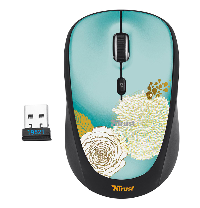 TRUST Muis, Trust Yvi Wireless Flower