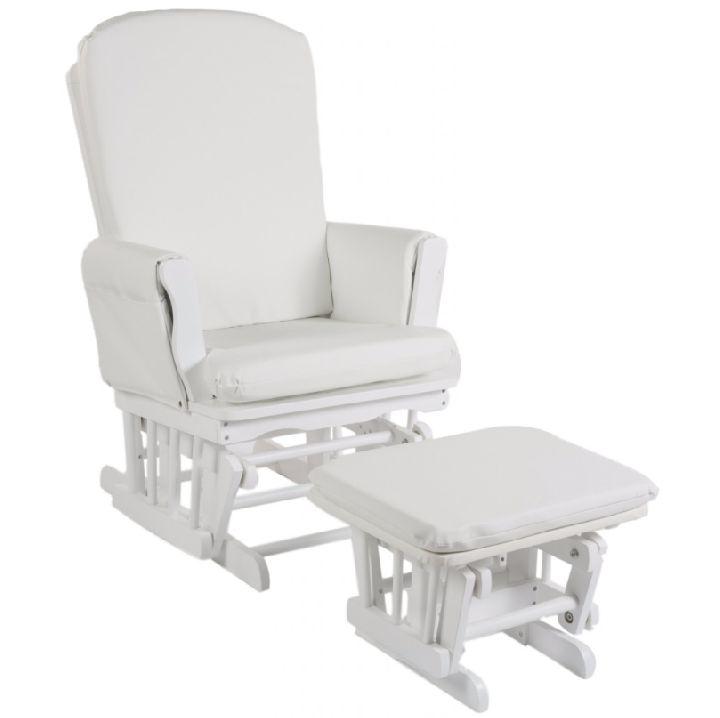 Schommelstoel Baby Automatisch.Zetel Schommelstoel Gliding Chair Wit White Ref 302054 Paradisio