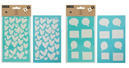 PARADISIO Stickers, Craft Stencils