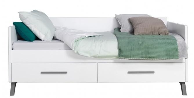 Te Koop Bedbank.Bedbank Matrasmaat 90x200cm Wit Grijs White Grey Wash Kamer Levi Bodem Voor Basis Bed Inbegrepen