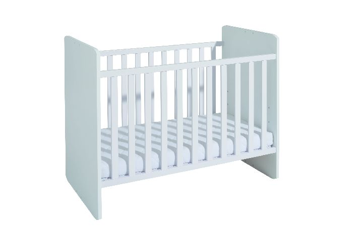 Babybed Aan Bed.Babybed Omvormbaar Tot Eenpersoonsbed Matrasmaat 60x120cm Wit Krijtwit Kamer Lorie Bodem Voor Basis Bed Inbegrepen Sponden Voor Omgevormd Bed