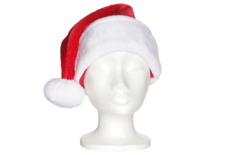 Kerstmuts Met Licht : Kerstmuts voor kind volwassene wit rood velours ref u