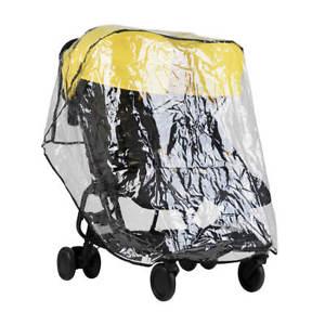 Heks Op Bezem Storm.Regenscherm Windscherm Storm Cover Transparant Geschikt Voor Tweelingbuggy Mountain Buggy Nano Duo